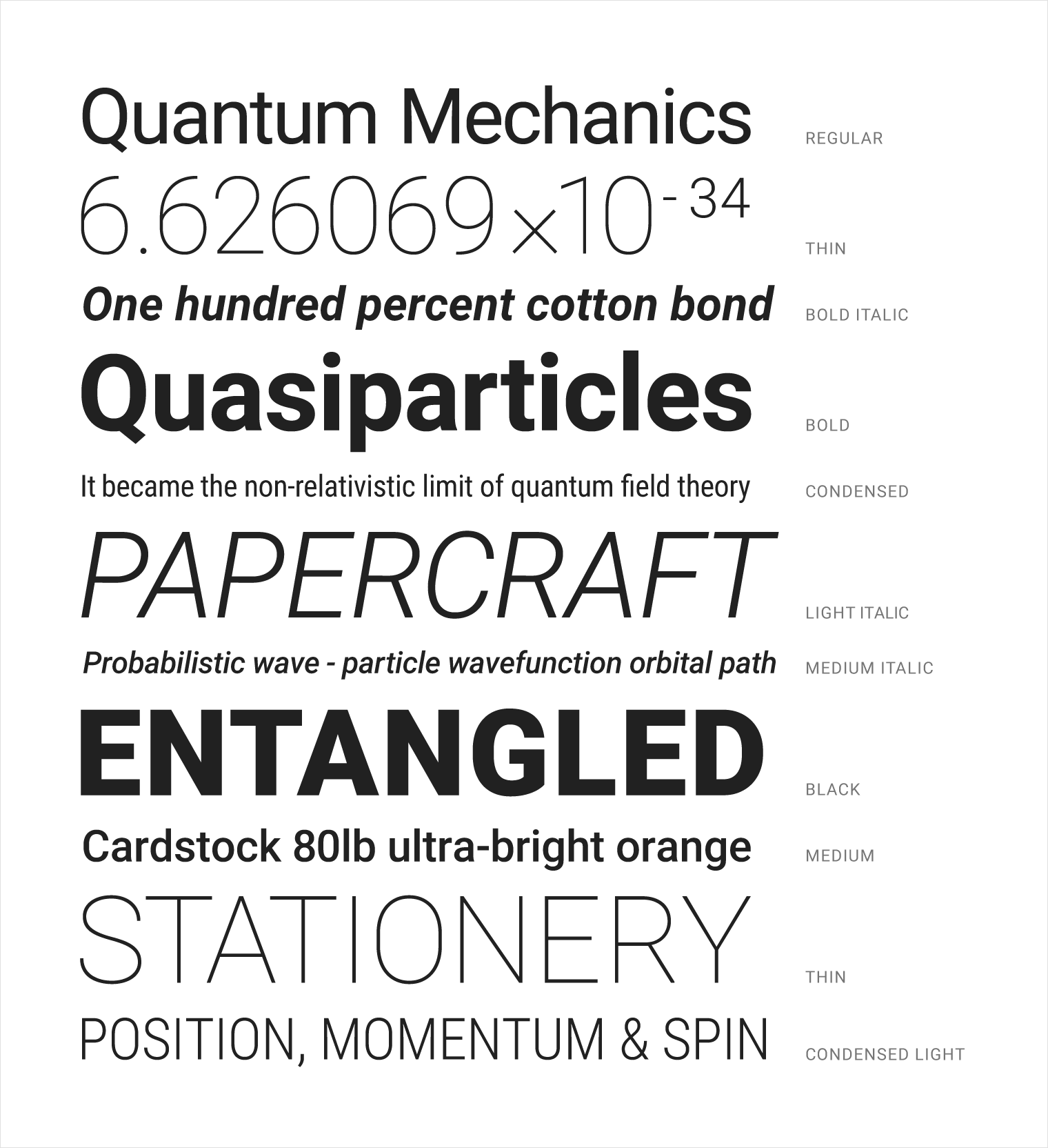 Roboto font example