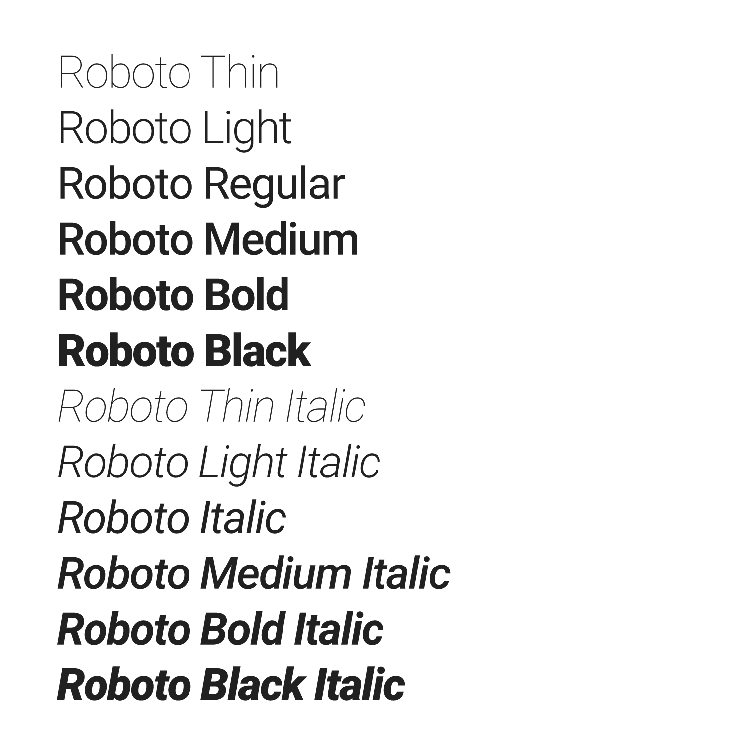typography style google design guidelines