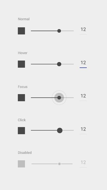 Sliders - Components - Google design guidelines