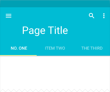 Tabs - Components - Google design guidelines