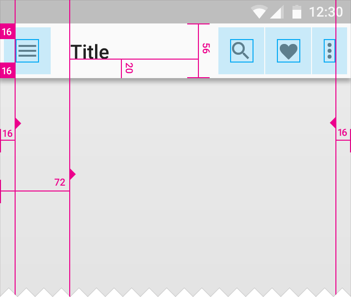 how to change spacing on google drive app