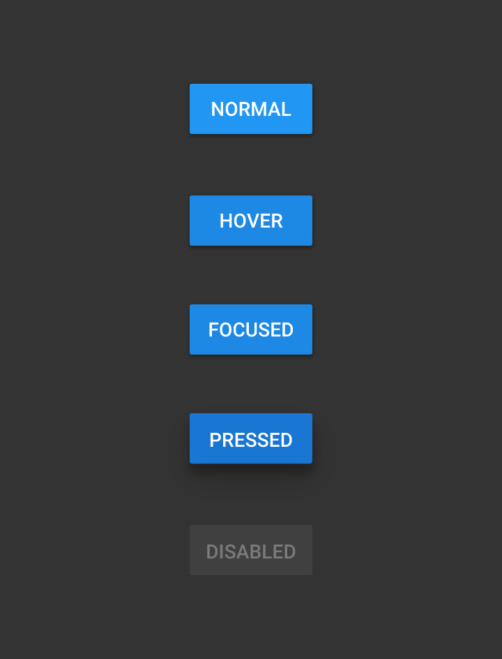 How to mimic the Material-design raised button style, even for pre