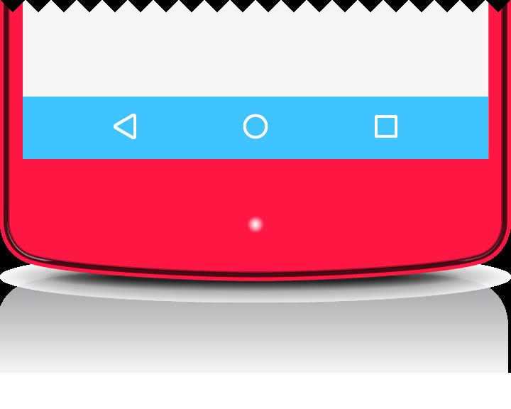 Android navigation bar transparent